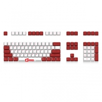 Keycap Ducky PBT 108 phím White-Red