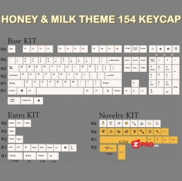 Bộ Keycap Honey And Milk 154 Phím