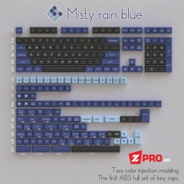 Bộ Keycap OSA Misty Rain Blue (ABS Double shot)