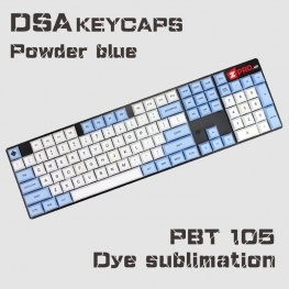 Bộ Keycap PBT DSA Powder Blue 105 keys
