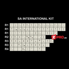 Bộ Keycap PBT International KIT 79 Phím