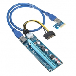Dây Riser PCI Express 1X to 16X USB 3.0 Ver 006C